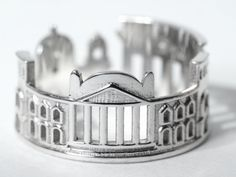 Great idea, now.. what city to choose - Berlin Cityscape  Skyline Statement Ring Size 5-13 by Shekhtwoman