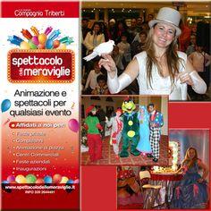 Lo SPETTACOLO DELLE MERAVIGLIE crea e produce spettacoli e tanto divertimento, organizza corsi base e avanzati per truccabimbi, bolle, magie e tanto altro, visita il sito www.spettacolodellemeraviglie.it
