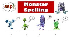 SSP Monster Spelling (Phonemic Awareness) Speech to Print