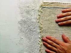 Diy Wall Painting, Diy Wall Art, Fabric Painting, Wall Patterns, Textile Patterns, Wall Art Designs, Wall Design, Gold Leaf Art, Fabric Wall Art