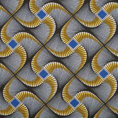 Tissu africain wax bleu
