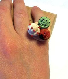 "Ring Fimo ""CupCake"" http://melylefay.wix.com/avaloncreations"