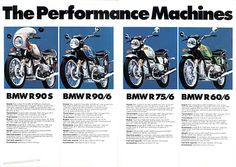 BMW brochure from '73. Cool bikes. Cool advertising. Cool year.
