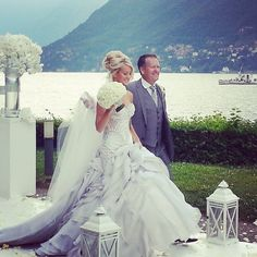 J'aton Couture, not a huge fan of the dress but love the idea of getting married next to lake Geneva