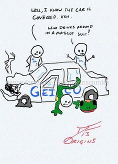 Geico Origins, Ems, Fire, The Originals, Comics, Cover, Cartoons, Comic, Comics And Cartoons