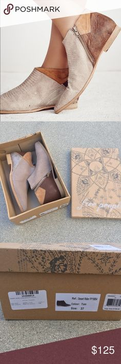 NWB Free People Desert Rider Tan Ankle Booties New with box. Size 7 or 37. Free People Shoes Ankle Boots & Booties