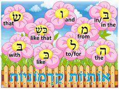 Prefix Flower Garden Poster Hebrew #learnhebrew