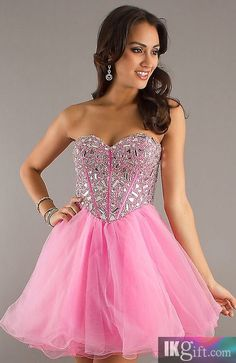 homecoming dress homecoming dress, pink and glitter can it get any better!