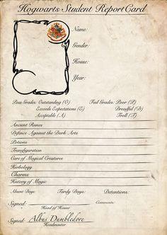 Hogwarts Report Card base by renegadeWandering on DeviantArt