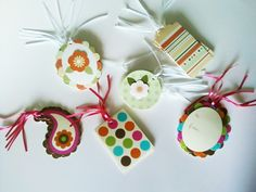 Colorful Die-Cut Tags, perfect for gifts! Starting at $5.