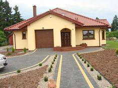 Projekt domu Ramzes 112,2 m2 - koszt budowy 241 tys. zł - EXTRADOM Modern Bungalow House, Good House, Home Fashion, My Dream Home, I Am Awesome, House Plans, Cottage, Cabin, House Design