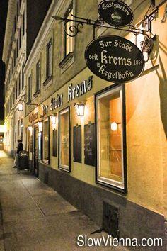 """Gasthaus """"Zur Stadt Krems"""", district, Vienna, Austria (c) Slow Travel Vienna Food, Heart Of Europe, Slow Travel, Vienna Austria, Homeland, Places To See, Drink, City, Vienna"""