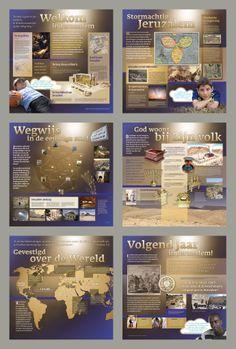 panelen voor tentoonstelling over Jeruzalem, Christenen voor Israel. 2012