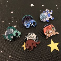 Your place to buy and sell all things handmade Rainbow Metal, Mothman, Cool Pins, Hard Enamel Pin, Pin And Patches, Pin Badges, Lapel Pins, Character Design, Nerd