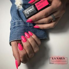 Pink nails by Ola 💕 Pink Minnie, Nail Designs Spring, Nail Supply, Beauty Essentials, Spring Nails, Gel Polish, Salons, Cosmetics, Beautiful