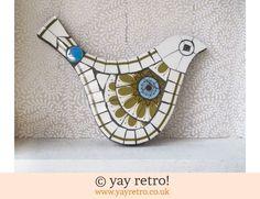 Galaxy Mosaic Bird - Retro, Vintage China, Glassware, Kitchenalia, fabrics and books - yay retro!