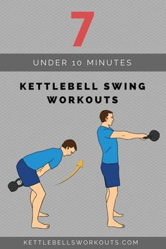 7 kettlebell swing workouts in under 10 minutes