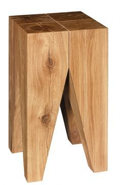 ST04 Backenzahn solid wood stool & side table (E15) Design by Philipp Mainzer, 1996