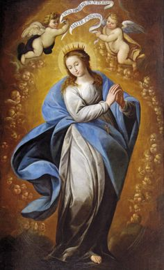 Carlo Francesco Nuvolone, The Immaculate Conception, 1635 Mother Of Christ, Mother Art, Blessed Mother Mary, Blessed Virgin Mary, Religious Images, Religious Art, Madonna, Virgin Mary Art, Jesus Mary And Joseph