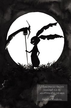 """Dark Bunny"" by Kashoka - An omnious laugh rang out across deserted glade in the moonlight."