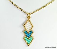 Do you want to learn how to make this brick stitched diamond? It's easy and takes very little time. You can use this pattern for a pendant or earrings. I recently purchased a small package of Miyuki 24 karat gold plated Delicas, and they have raised my bead stitched pendants to a whole new level. [...]