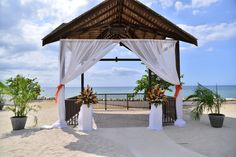 The Beachfront Casita offers stunning views and the perfect place for your ceremony #SecretsStJames #SecretsWildOrchid