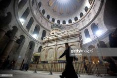 A prist walks outside The tomb of Jesus Christ in the Church of the Holy Sepulchre on March 21 2017 in Jerusalem Israel The tomb of Jesus Christ in... Jesus Tomb, Jesus Christ, Church News, Jerusalem Israel, Old City, Catholic, The Outsiders, Restoration, Greek