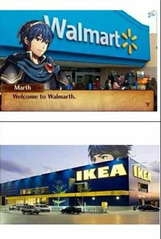 Marth and Ike from Fire Emblem doing their thing