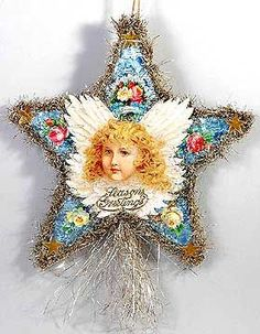 Victorian Christmas Ornaments | Dresden Star Heirloom Ornaments