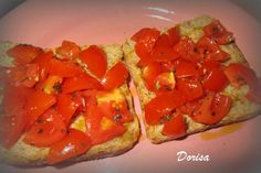 Fotorecept: Toastový chlebík s paradajkami