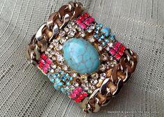 {DIY} DANNIJO Inspired Cuff Bracelet Unbelievable - so easy, so beautiful