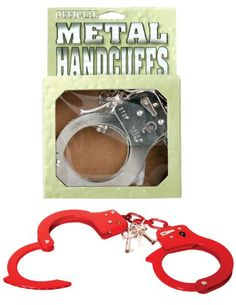 Pipedream - Fetish Fantasy - Metal Designer Handcuffs Red, 1er Pack