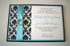 Brandy's Tiffany Damask Custom Pocket Wedding by invitationsbykara, $6.50
