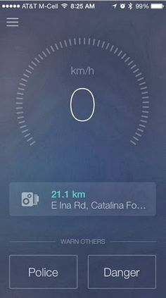 For drivers who want a more indepth experience police check spots and cameras. Speedometer is a new free app created by Sygic http://www.iappsclub.com/2014/02/speedometer-iphone-app.html