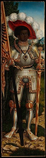 Lucas Cranach the Elder (German, 1472–1553). Saint Maurice, ca. 1520–25. The Metropolitan Museum of Art, New York. Bequest of Eva F. Kollsman, 2005 (2006.469) | Originally the wing of an altarpiece, this panel represents Maurice, the Roman legion commander martyred for refusing to slaughter Christians. #sword