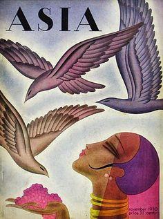 Frank McIntosh (American illustrator, 1901-1985) Asia Magazine Cover November 1930