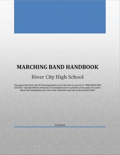 Marching Band Handbook - Editable in Word--this is probably only funny to me but whatever. Band Mom, Band Nerd, Marching Band Humor, I Salute You, Band Director, Better Music, Teaching Music, Teacher Hacks, Future Classroom