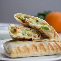 Quick and Easy Chicken Burritos with Sour-cream Cilantro Sauce-8