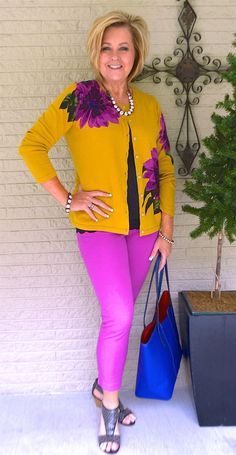 50 IS NOT OLD | A BOLD PRINT FOR SPRING | Vibrant | Colorful | Violet | Fashion over 40 for the everyday woman