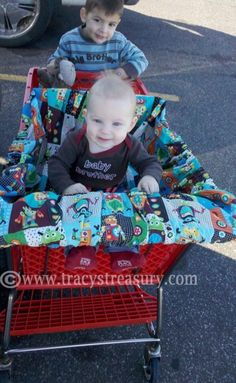 Sometimes simple is better! Here's the easiest way I've found to make a shopping cart cover.