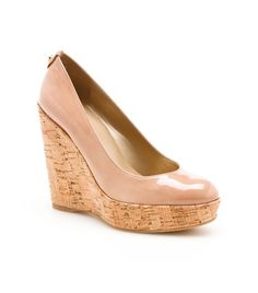 Stuart Weitzman - Corkswoon. The perfect pair of nude wedges!