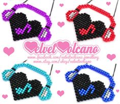 I Heart Music Love Heart hama beads Perler Bead Mario, Diy Perler Beads, Pearler Beads, Fuse Beads, Melty Bead Patterns, Perler Patterns, Beading Patterns, Music Crafts, Pixel Pattern