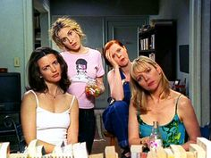 Charlotte, Carrie, Miranda and Samantha in Sex and the City.