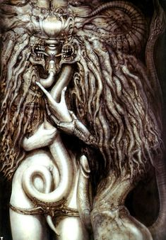 Giger (Hans Rudolf Giger) Well, there is nothing to say only: H. Giger (Hans Rudolf Giger) read more at Gothic_Valery Arte Alien, Alien Art, Xenomorph, Arte Horror, Horror Art, Hr Giger Art, Hr Giger Alien, Inspiration Art, Character Inspiration