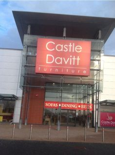 CastleDavitt - About Us Sofa Furniture, This Is Us, Sofas, Castle, Neon Signs, Dining, Store, Couch Furniture, Couches