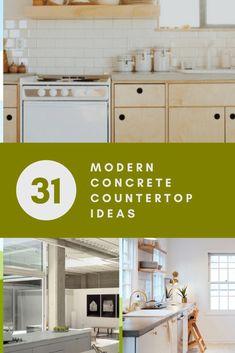 31 Modern Concrete Countertop Ideas | Sebring Design Build