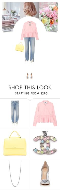 """""""Untitled #308"""" by soledestate ❤ liked on Polyvore featuring 3x1, MSGM, Orciani, Chanel, Vita Fede, Gianvito Rossi and distresseddenim"""