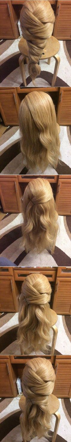 fake puffy braid  http://www.modonika.com/2016/05/6-super-easy-bun-hairstyle-for-summers.html