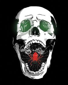 screaming skull stock