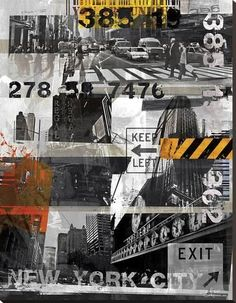 Stretched Canvas Print: New York Style XI by Sven Pfrommer : 50x38in